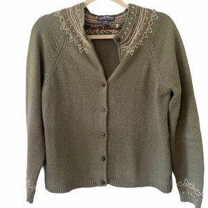 Woolrich Vintage Laurel Embroidered Cardigan